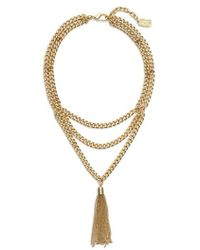 Karine Sultan - Layered Y-necklace - Lyst