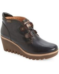 Pikolinos | Maple Leather Wedge Boots | Lyst