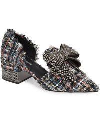 Jeffrey Campbell - Valenti Embellished Bow Loafer - Lyst