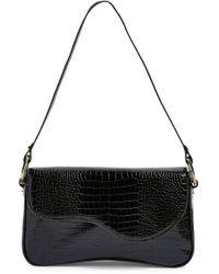 TOPSHOP - Remi Croc Shoulder Bag - Lyst