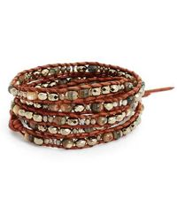 Chan Luu - Mixed Semiprecious Stone Quintuple Wrap Bracelet - Lyst