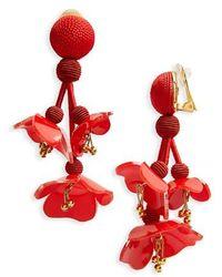 Oscar de la Renta - Falling Flower Drop Earrings - Lyst