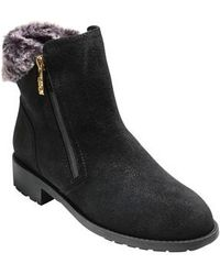 Cole Haan - Quinney Waterproof Bootie With Genuine Shearling Trim - Lyst