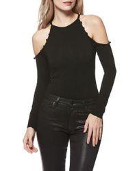PAIGE - Siana Cold-shoulder Bodysuit - Lyst