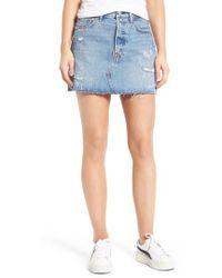 Levi's - Levi's Deconstructed Denim Skirt - Lyst