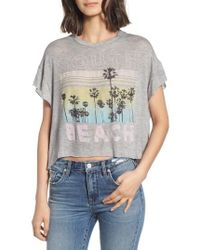 Project Social T - South Beach Boxy Crop Tee - Lyst