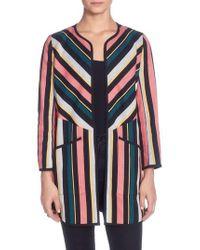 Catherine Malandrino | Pip Stripe Jacket | Lyst