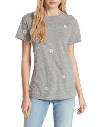 The Great - The Embroidered Slim Tee - Lyst