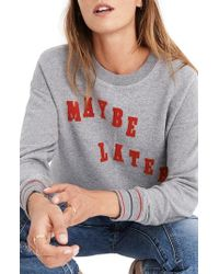 Madewell - Maybe Later Mainstay Sweatshirt - Lyst