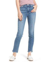 PAIGE - Transcend Vintage - Hoxton High Waist Ankle Skinny Jeans - Lyst