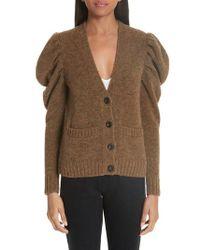Co. - Full Sleeve Merino Wool Blend Cardigan - Lyst