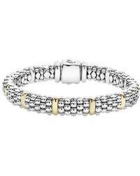 Lagos - Oval Caviar Rope Bracelet - Lyst