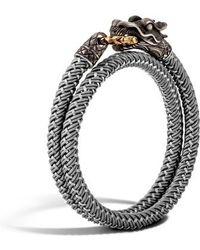 John Hardy - Legends Naga Double Wrap Bracelet - Lyst