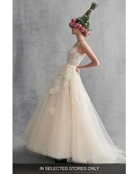 Ines by Ines Di Santo - Peony Embroidered Tulle Ballgown - Lyst