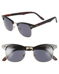 TOPMAN - Clubmaster 50mm Sunglasses - Lyst