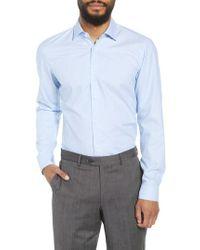 BOSS - Ismo Slim Fit Dot Dress Shirt - Lyst