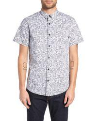 The Rail - Barcode Woven Shirt - Lyst