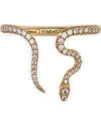 Nora Kogan - Alexandra Diamond Open Snake Ring - Lyst