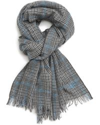 Hickey Freeman - Glen Plaid Cashmere Scarf - Lyst