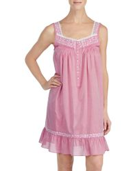 Eileen West - Cotton Chambray Chemise - Lyst