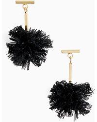 Tuleste - Lace Pom Pom T-bar Stud Earrings - Lyst