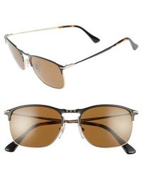 Persol - Evolution 55mm Polarized Aviator Sunglasses - - Lyst