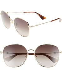 7c6ff5087f5 Lyst - Gucci Oversized Rimless Butterfly Sunglasses in Natural