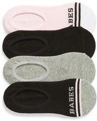 Sockart - Babes Club 4-pack No-show Socks - Lyst