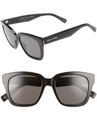 Marc Jacobs - 52mm Square Polarized Sunglasses - - Lyst