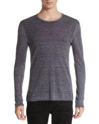 John Varvatos - Silk & Cashmere Crewneck Sweater - Lyst