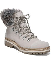 f99dec24d06b4 Lyst - Sam Edelman Bowen Faux Fur Trim Bootie in Gray