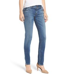 e5eabc57d21 Hudson Jeans Collin Skinny Mid-rise Jeans in Blue - Lyst