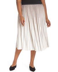 NIC+ZOE - Stripe Pleat Skirt - Lyst