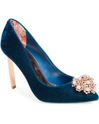 Ted Baker - Peetchv Embroidered Pump - Lyst