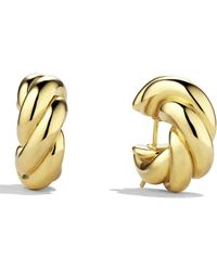 David Yurman - 'sculpted Cable' Small Earrings In Gold - Lyst