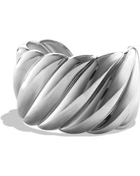 David Yurman - 'sculpted Cable' Wide Cuff - Lyst
