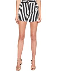 Bardot - Karlie Stripe Linen Blend Shorts - Lyst