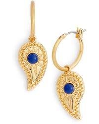 Rebecca Minkoff - Paisley Hoop Earrings - Lyst