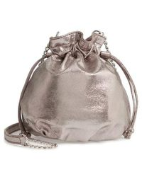 54368cd9e9 Chelsea28 - Phoebe Mini Metallic Bucket Bag - Metallic - Lyst