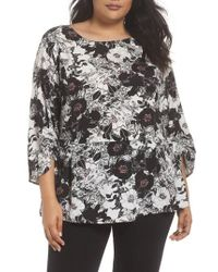 Sejour - Smocked Sleeve Top - Lyst