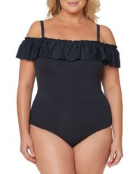 Bleu Rod Beattie - Off The Shoulder One-piece Swimsuit - Lyst