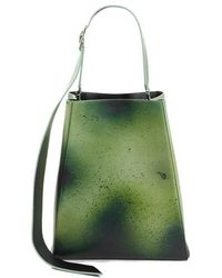 CALVIN KLEIN 205W39NYC - Large Distressed Leather Bucket Bag - - Lyst