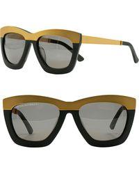 cd58dfe6ab8 Lyst - Freida Rothman Beacon 52mm Aviator Sunglasses - in Black