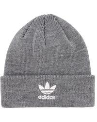 6222053bc22 Lyst - Adidas Originals Wide Rib Knit Beanie in Natural