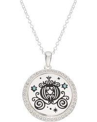 Disney - Princess Cinderella Carriage 'the Adventure Is On' Pendant Necklace - Lyst