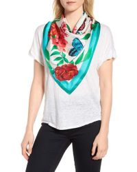 Echo - Risby Cove Square Silk Scarf - Lyst