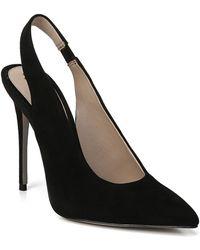 e861f882e7c14f Lyst - Sam Edelman Orianna Ankle-strap Suede leather Pump in Black