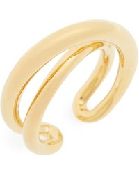 Charlotte Chesnais - Index Initial Vermeil Open Ring - Lyst