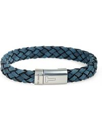 Ted Baker - Runfast Woven Leather Bracelet - Lyst
