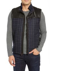 Robert Graham - Mcclement Leather Trim Wool Blend Vest - Lyst